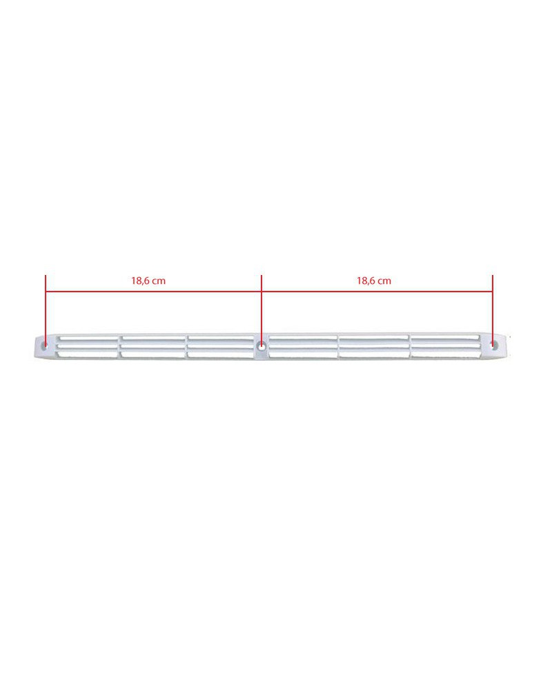 Grille plate d 39 a ration ivoire 400 mm for Grille aeration volet roulant