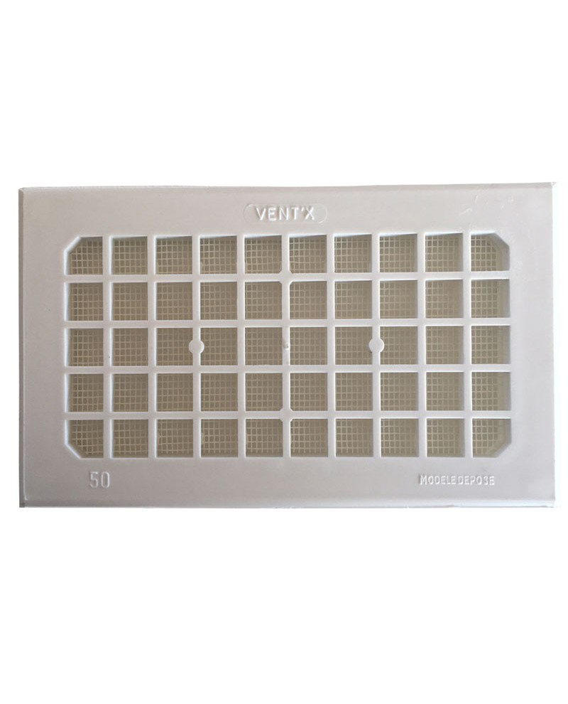 Grille d 39 a ration blanche for Grille aeration volet roulant