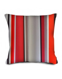 Coussin Rayures rouges